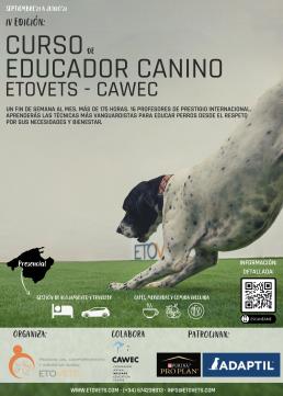 AXON COMUNICACION, AXON COMUNICACION, Adaptil, de Ceva Salud Animal, patrocina el IV Curso para Educadores Caninos Etovets-CAWEC