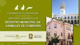 AXON COMUNICACION, El Ayuntamiento de Marchena renueva su convenio con el Colegio de Veterinarios de Sevilla